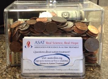 autism donation jar