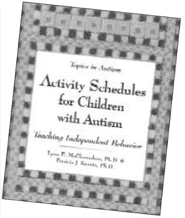 Autism activity schedule