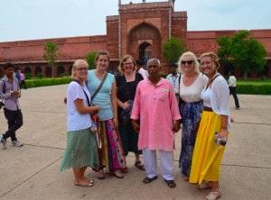 Summer 2014 team at the entrance to the Taj Mahal